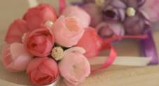 粉红多头茶花