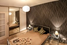 咖色欧式风卧室效果图