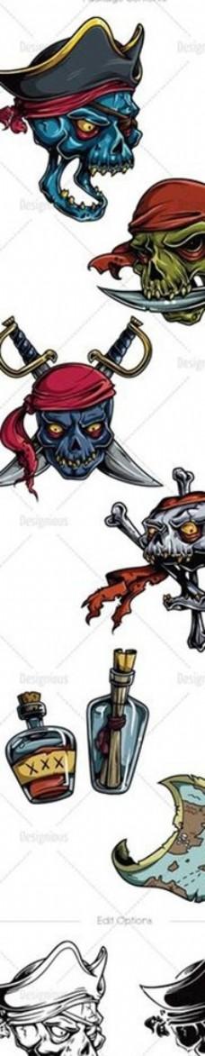 海盗骷髅头素材