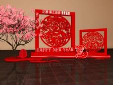 新年装饰效果图