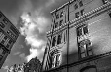 建筑古典立面拍摄欧式