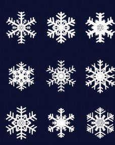 雪花素材矢量