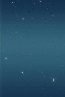 渐变蓝色星星背景