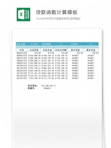 贷款函数计算模板