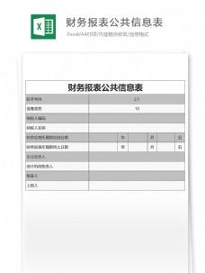 财务报表公共信息表