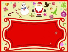 矢量创意卡通圣诞节小物件背景素材