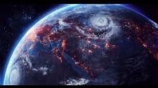创意科技星球唯美星空背景