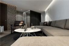简约室内客厅沙发效果图