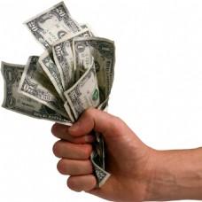 手握一把美元图片免抠png透明素材