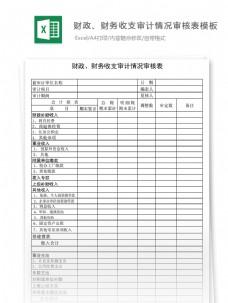 财政、财务收支审计情况审核表模板