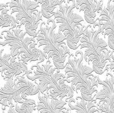 欧式叶状花纹矢量图