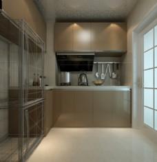 厨房效果图 3D效果图