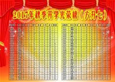 光荣榜 学校展板  文化墙