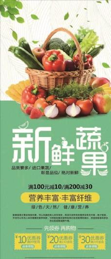 进口蔬果宣传促销海报