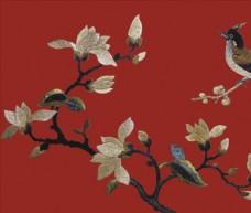 刺繡 繡花 茉莉花 桃花 梨花