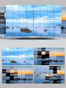 网格照片展示翻转ae模板
