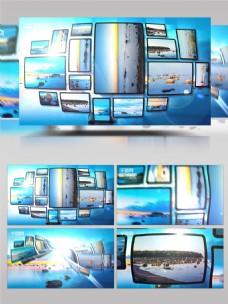 创意照片相框展示ae模板