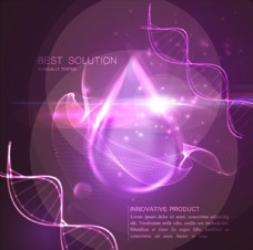 紫色DNA分子结构水滴光效背景