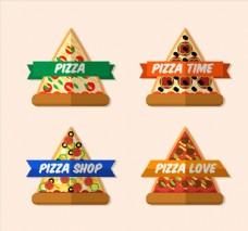 三角披萨标签