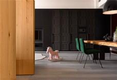 简约时尚客厅灰色窗帘装修效果图
