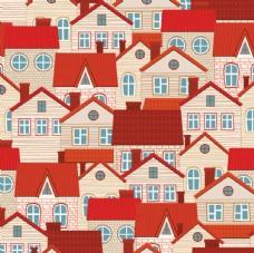 红房子屋顶矢量图