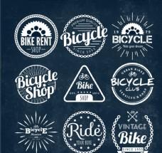 创意自行车徽章矢量设计
