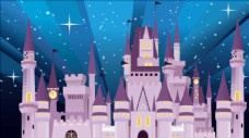 迪士尼城堡矢量图