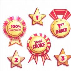 创意销售奖牌矢量设计素材