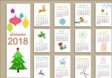 2018日历设计 圣诞日历