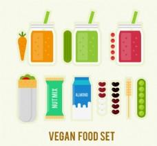 扁平化素食素材