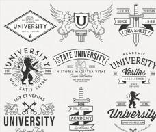 大学徽章标签设计