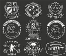 大学徽标图标设计