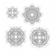 漂亮的分形艺术花纹图案
